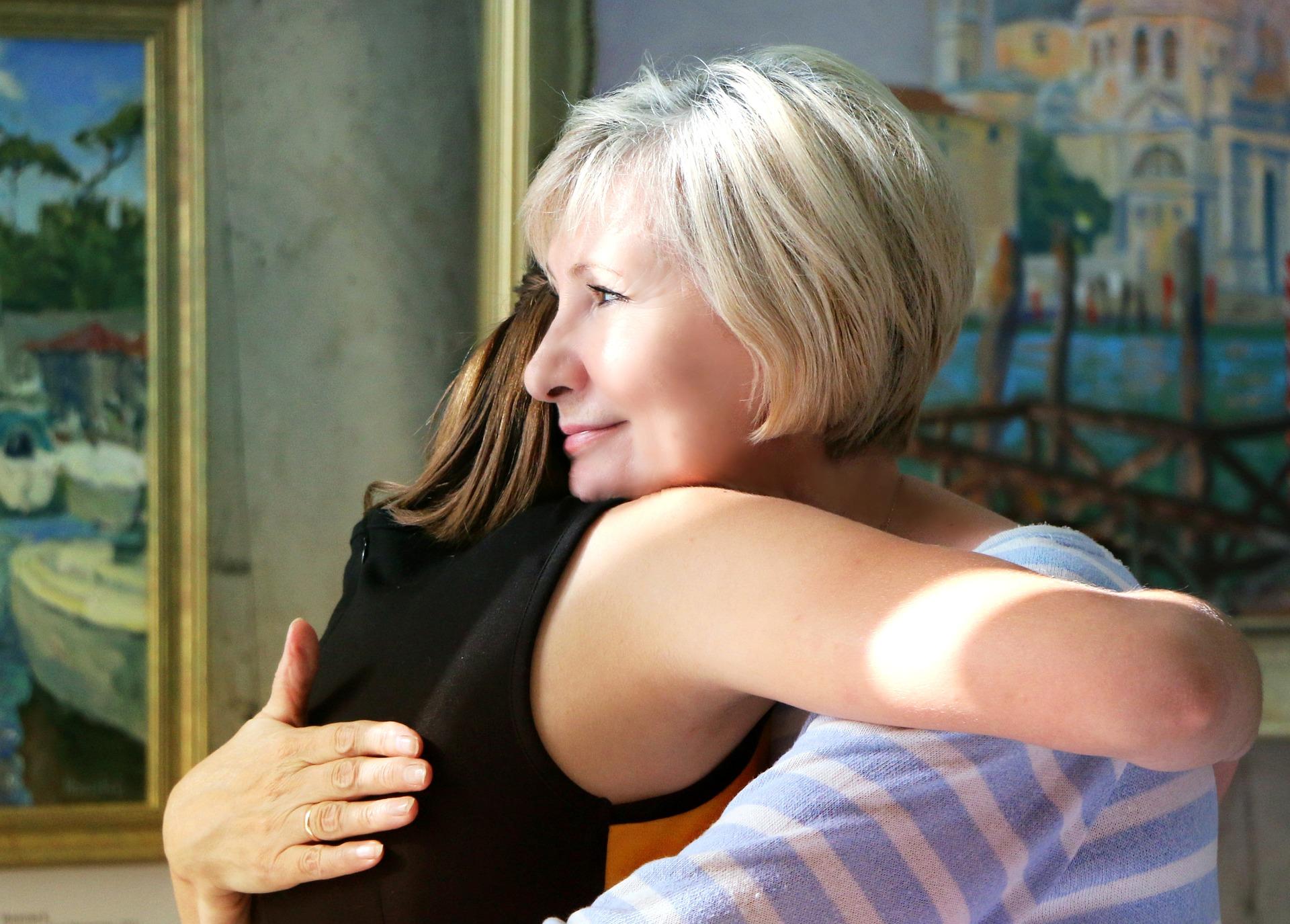 hug parent covid